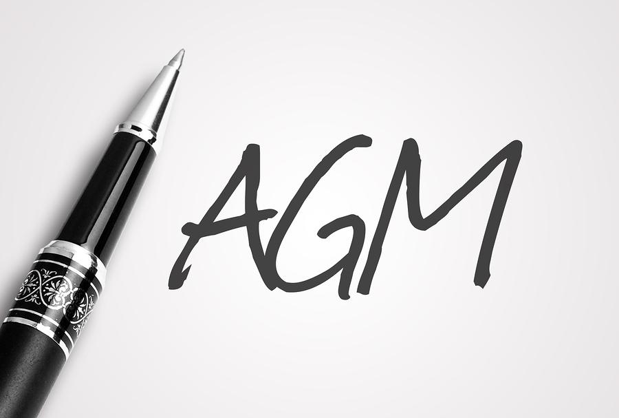 Pen Writes Agm On White Blank Paper