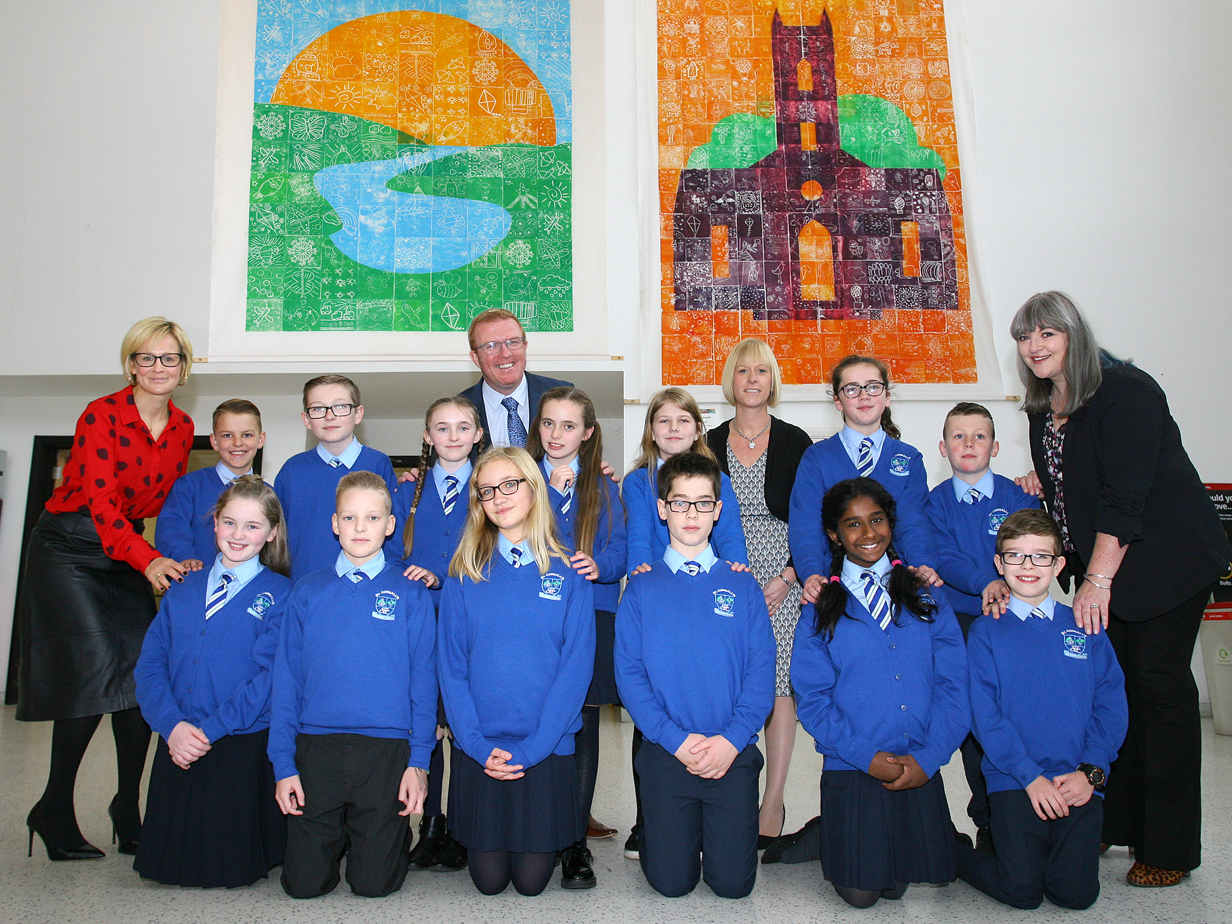 Local primary schools work together to create unique artwork for display in Belfast International Airport