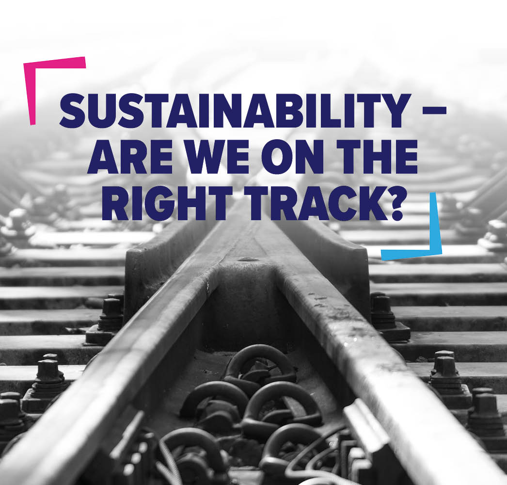Sustainability are we on the right track button for website