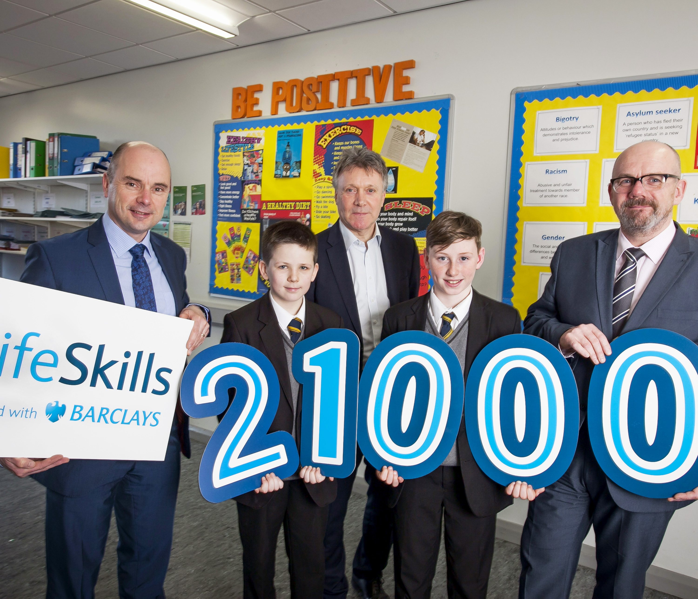 Barclays LifeSkills_Paul Davies; Kelan Syddall;Kieran Harding;Matthew Edgar;Jo McColgan