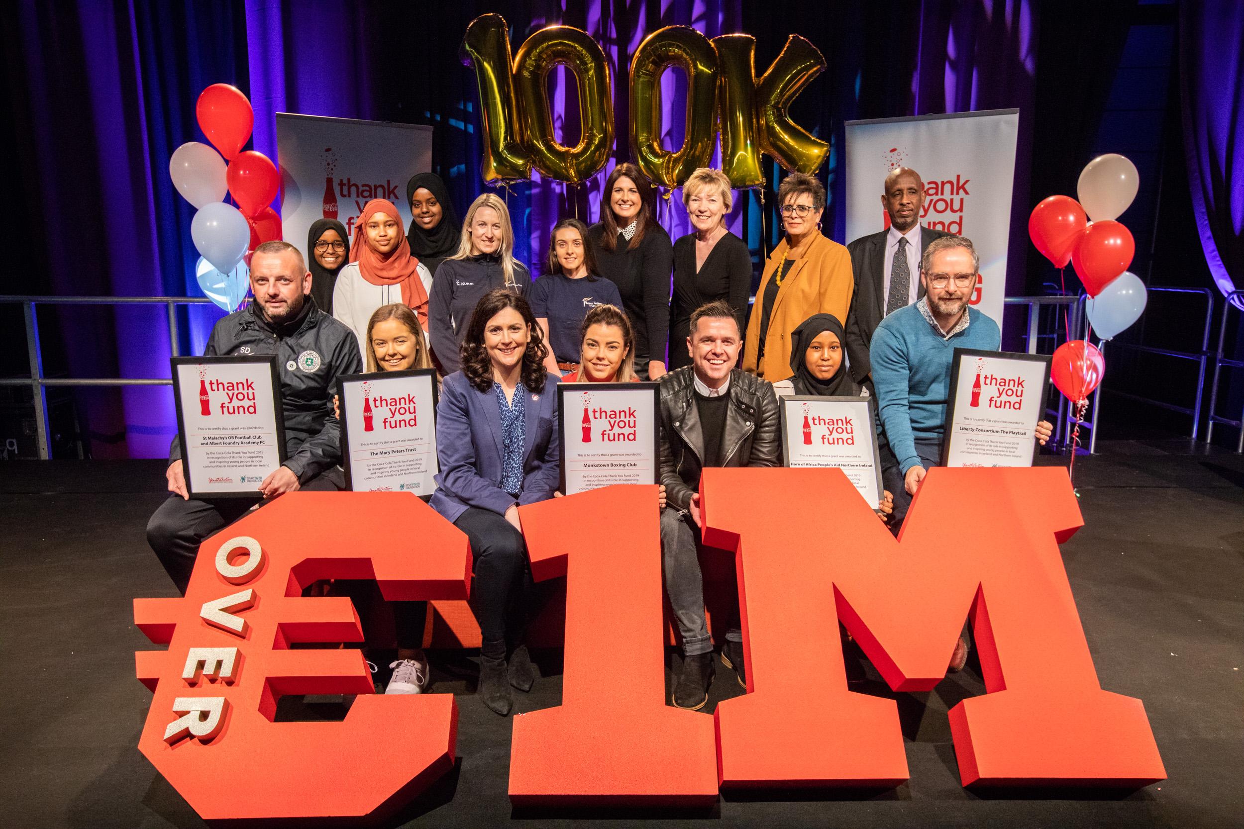 Coca-Cola Thank You fund NI recipients 2019 with Pete Snodden-1