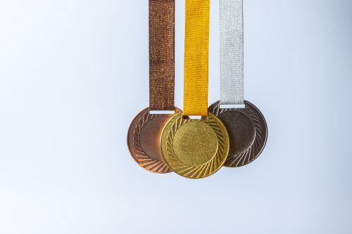 Gold Medal, Silver Medal And Bronze Medal Concept For Winning Or