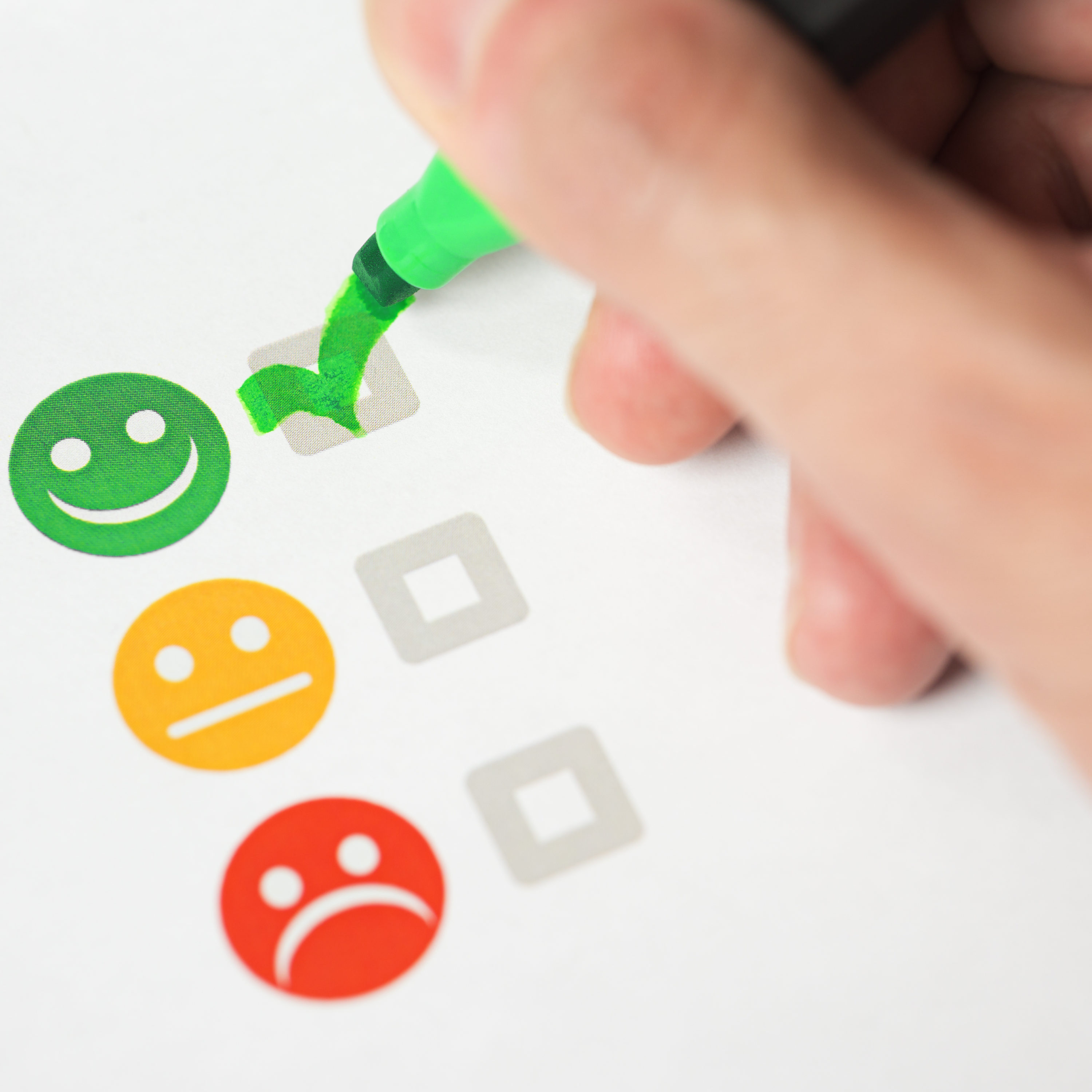 Customer Satisfaction Happy Feedback Rating Checklist And Excell