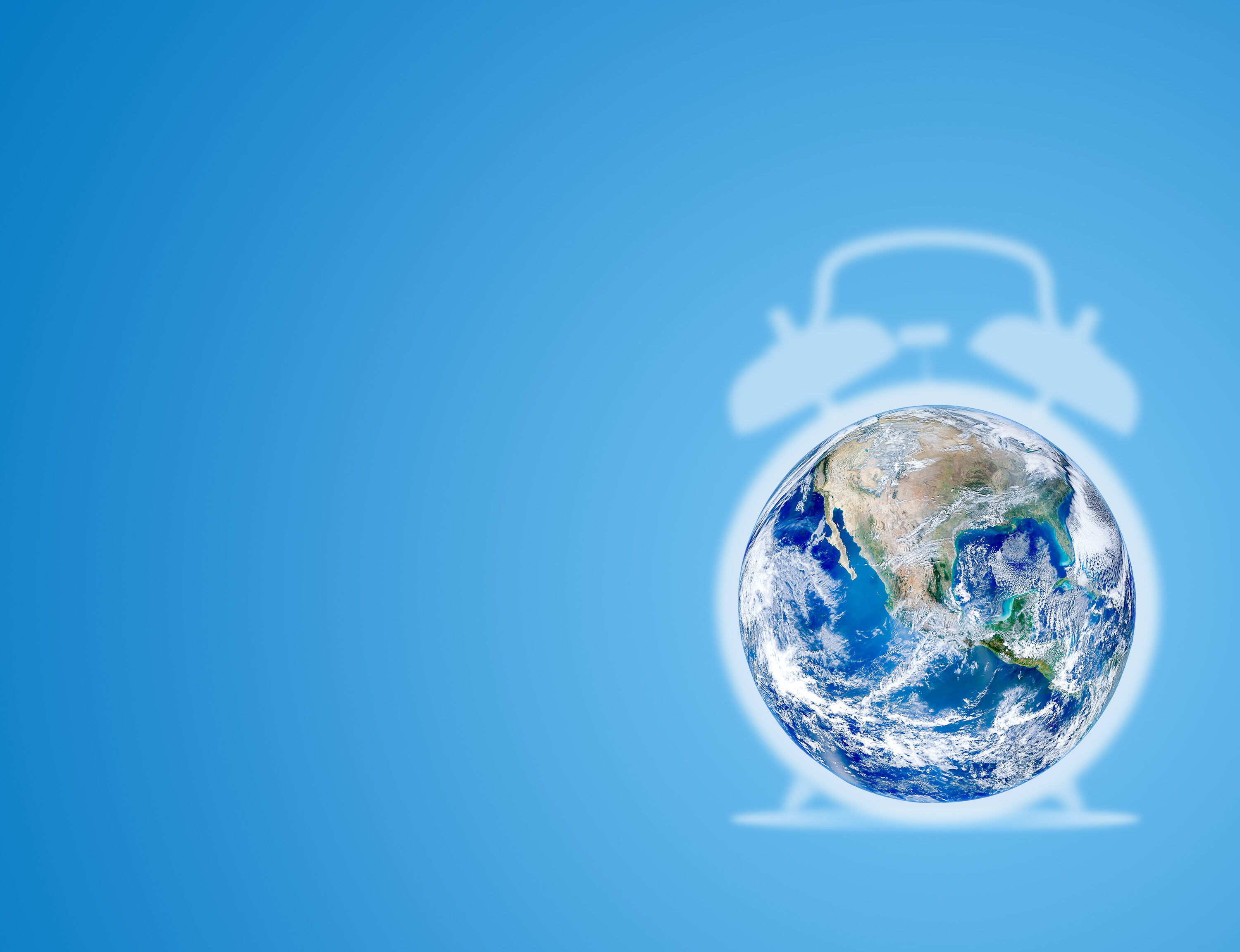Ecology And Environmental Concept : Blue Planet Earth Globe Alar