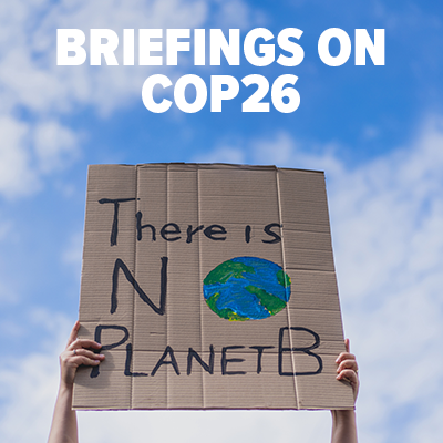 Briefings on COP26 button V2