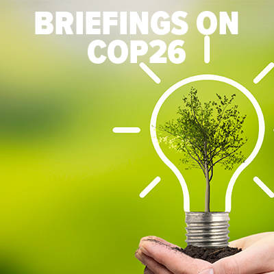 Briefings on COP26 button