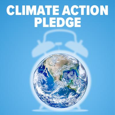 Climate Action Pledge button